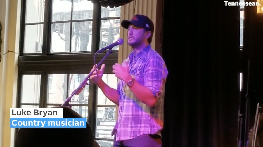 Luke Bryan discusses Luke Bryan's Sushi Bar at Grand Opening